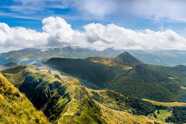 Les volcans du Puy de Dôme.